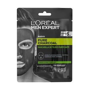 Men Expert Pure Charcoal Mascarilla De Tejido